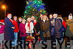 Members of Listowel Tidy Town Committee who turned on the Christmas Tree lights in Listowel on Sunday evening.