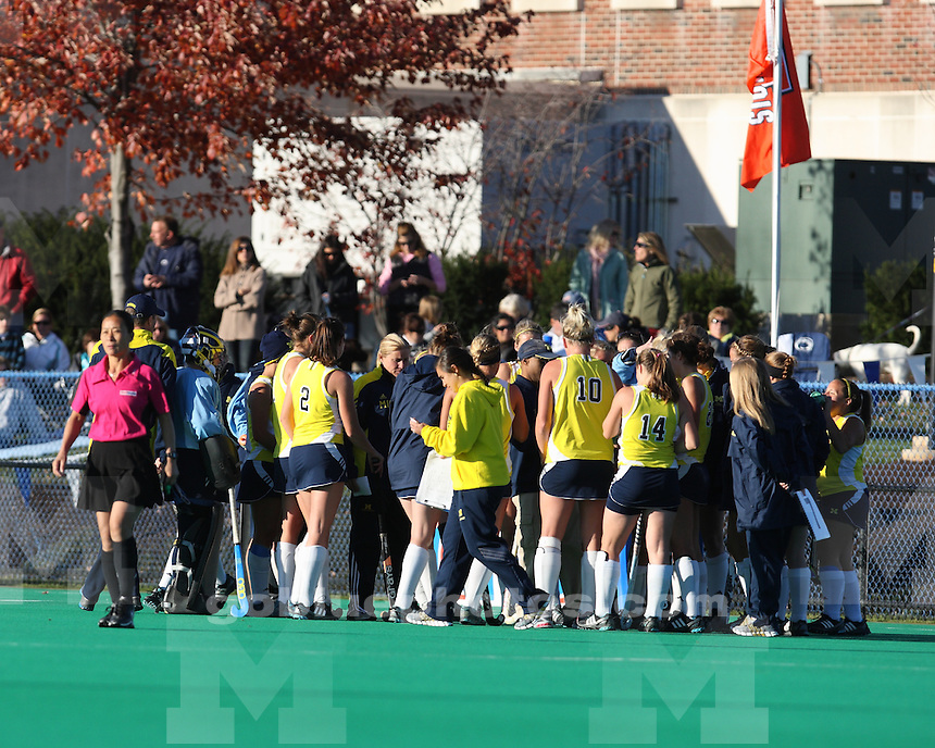 The University of Michigan field hockey team was defeated by Penn State University in the Big Ten Tournament championship game at Penn State University in State College, Pa., on November 6, 2011.