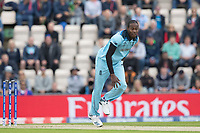 Jofra Archer (England) took the second over from the Pavillion end during England vs West Indies, ICC World Cup Cricket at the Hampshire Bowl on 14th June 2019