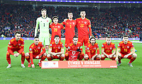 19th November 2019; Cardiff City Stadium, Cardiff, Glamorgan, Wales; European Championships 2020 Qualifiers, Wales versus Hungary; Wales team line up for a team photo before kick off - Editorial Use