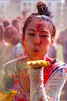 Holi Festival of Colors, Downtown Park, Bellevue, WA, USA.