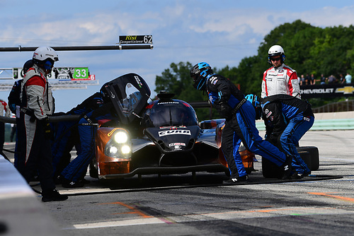 5-7 August, 2016, Elkhart Lake, Wisconsin USA<br /> 60, Honda HPD, Ligier JS P2, P, John Pew, Oswaldo Negri, Jr. pit stop.<br /> ©2016, Richard Dole<br /> LAT Photo USA