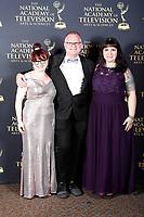 PASADENA - May 5: Rachel Schwartz, Brent Stanton, Lisa Armstrong in the press room at the 46th Daytime Emmy Awards Gala at the Pasadena Civic Center on May 5, 2019 in Pasadena, California
