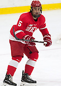Matt Nuttle (Cornell - 5) - The Harvard University Crimson defeated the visiting Cornell University Big Red on Saturday, November 5, 2016, at the Bright-Landry Hockey Center in Boston, Massachusetts.