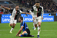 Cristiano Ronaldo of Juventus celebrates after scoring the goal ofc 0-2 for his side, Goal afterwards cenceled by the referee Gianluca Rocchi <br /> Milano 6-10-2019 Stadio Giuseppe Meazza <br /> Football Serie A 2019/2020 <br /> FC Internazionale - Juventus FC <br /> Photo Andrea Staccioli / Insidefoto