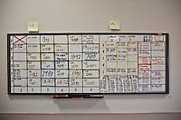 US Arizona Tucson Pima County Medical examiner lavagna con elenco ritrovmenti nel deserto
