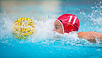STANFORD, CA - April 20, 2019: Makenzie Fischer at Avery Aquatic Center. The #1 Stanford Cardinal took down the #20 San Jose State Spartans 22-4.