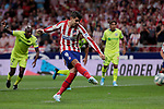 Atletico de Madrid's Alvaro Morata during La Liga match between Atletico de Madrid and Getafe CF at Wanda Metropolitano Stadium in Madrid, Spain. August 18, 2019. (ALTERPHOTOS/A. Perez Meca)