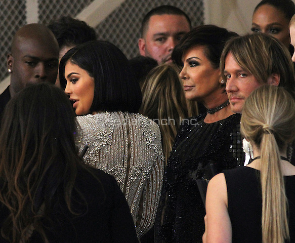 05 02 2016: Kylie Jenner, Kris Jenner, Keith Urban at Manus X Machina: Fashion In An Age of Technology at Metropolitan Museum of Art in New York. Credit:RWMediaPunch