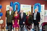 REACHING A MILESTONE:  Kenmare Credit Union celebrate the first anniversary of their amalgamation with Killarney Credit Union with l-r Mick O'Brien (Director), Joy Clifford (Director/Youth Officer), Pat Delaney (Chairman), Helen Courtney-Power, (B.D.O.) and Mickey Ned O'Sullivan.