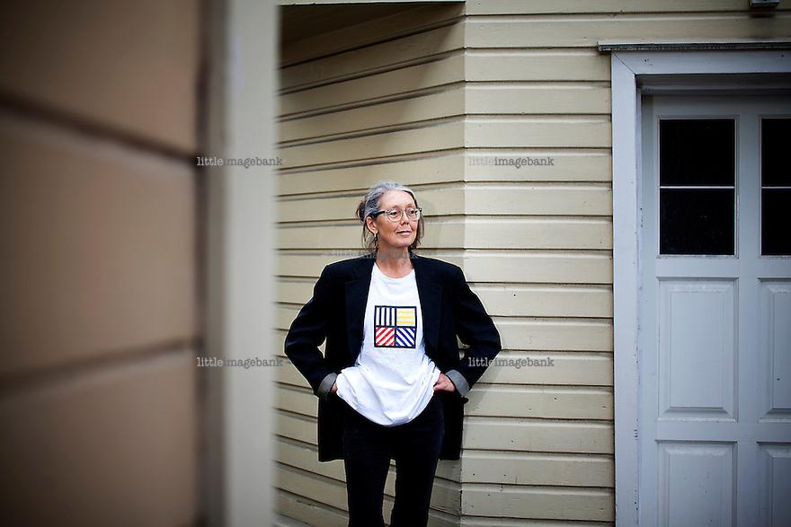 Oslo, Norge, 22.08.2012. Anne Carson er en kanadisk poet, skribent og oversetter. Foto: Christopher Olssøn.