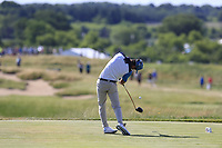 Joaquin Niemann (AM)(CHI) tees off the 7th tee during Friday's Round 2 of the 117th U.S. Open Championship 2017 held at Erin Hills, Erin, Wisconsin, USA. 16th June 2017.<br /> Picture: Eoin Clarke | Golffile<br /> <br /> <br /> All photos usage must carry mandatory copyright credit (&copy; Golffile | Eoin Clarke)
