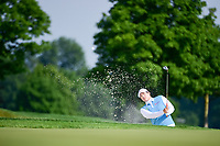 Ariya Jutanugarn (THA) hits from the trap on 15 during Thursday's first round of the 72nd U.S. Women's Open Championship, at Trump National Golf Club, Bedminster, New Jersey. 7/13/2017.<br /> Picture: Golffile | Ken Murray<br /> <br /> <br /> All photo usage must carry mandatory copyright credit (&copy; Golffile | Ken Murray)