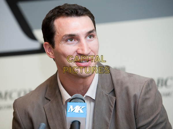 Wladimir Klitschko.Press conference in the newspaper the Moscow member of the Komsomol, Russia..March 15th, 2007.headshot portrait brown suit jacket  .CAP/PER/AM.©AM/PersonaStars/CapitalPictures
