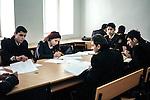Baku - Azerbaijan - 17 December 2014 -- Azerbaijan State Marine Academy. -- Akhadova Irada (20) one of the few female students studing with her classmate . -- PHOTO: Sitara Ibrahimova / EUP-IMAGES