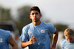 BROWNS SUMMIT, NC - SEPTEMBER 16: North Carolina's Mauricio Pineda. The University of North Carolina Tar Heels hosted the Duke University Blue Devils on September 16, 2017 at Macpherson Stadium in Browns Summit, NC in a Division I college soccer game. UNC won the game 2-1.