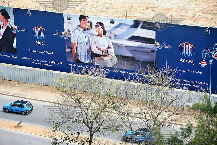 Advertising board for a new property development in the city of Rabat.