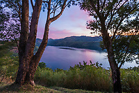 Volcano lakes at Ndali lodge, Uganda, Africa