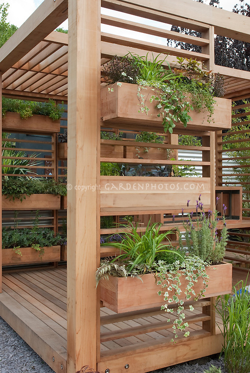 Awesome Covered Deck With Windowbox Container Garden Is A Creative Use Of Backyard  Space And Landscaping Idea