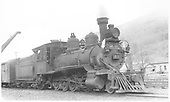 RGS 2-8-0 #41 at the Rico water tank with a CCC special.<br /> RGS  Rico, CO  Taken by Perry, Otto C. - 6/30/1940