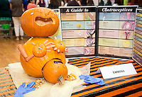 "Emmons Health Center's winning pumpkin, ""Best Department Theme."" Photo from the Boo Bash in the Tiger Cooler, Oct. 30, 2015.<br />