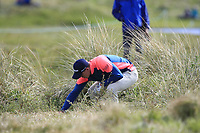 Grant Forrest (SCO) in the rough on the 3rd during Round 2 of the Betfred British Masters 2019 at Hillside Golf Club, Southport, Lancashire, England. 10/05/19<br /> <br /> Picture: Thos Caffrey / Golffile<br /> <br /> All photos usage must carry mandatory copyright credit (&copy; Golffile | Thos Caffrey)