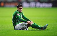 FUSSBALL   1. BUNDESLIGA    SAISON 2012/2013    14. Spieltag   SV Werder Bremen - Bayer 04 Leverkusen                28.11.2012 Zlatko Junuzovic (SV Werder Bremen) enttaeuscht