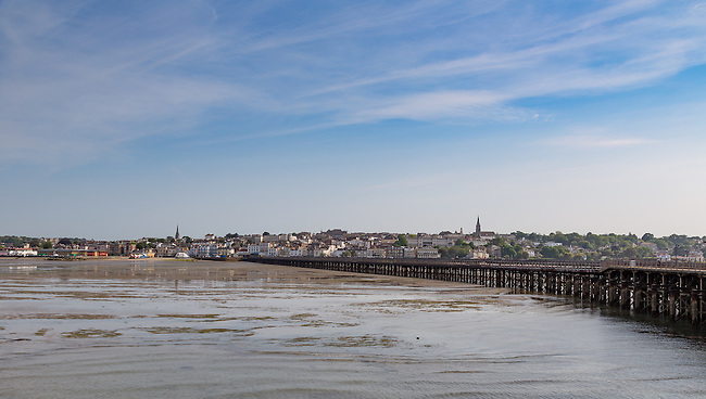 Ryde and the pier at low tide, one summers evening