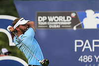 Joost Luiten (NED) on the 16th tee during the 2nd round of the DP World Tour Championship, Jumeirah Golf Estates, Dubai, United Arab Emirates. 16/11/2018<br /> Picture: Golffile | Fran Caffrey<br /> <br /> <br /> All photo usage must carry mandatory copyright credit (© Golffile | Fran Caffrey)