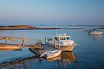 Harbor scene in Southport, Maine, USA