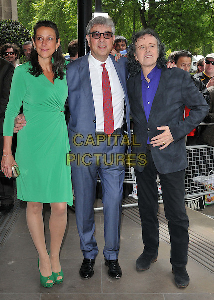 LONDON, ENGLAND - MAY 21: Ariella Gouldman, Graham Gouldman &amp; Donovan attend the Ivor Novello Awards 2015, Grosvenor House Hotel, Park Lane, on Thursday May 21, 2015 in London, England, UK. <br /> CAP/CAN<br /> &copy;CAN/Capital Pictures