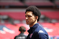 Lewis Montrose (AFC Fylde) during the Vanarama National League Playoff Final between AFC Fylde & Salford City at Wembley Stadium, London, England on 11 May 2019. Photo by James  Gil.