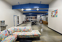 NWA Democrat-Gazette/FLIP PUTTHOFF <br /> Colorul couches give teens an   July 3 2019  area to relax in the Rogers Teen Center game room.