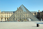 Pyramid built as an entrance to the Louvre