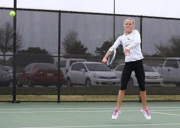 DENTON, TX - APRIL 5: Danè Joubert at Waranch Tennis Center in Denton on April 5, 2014 in Denton, Texas. Photo by Rick Yeatts