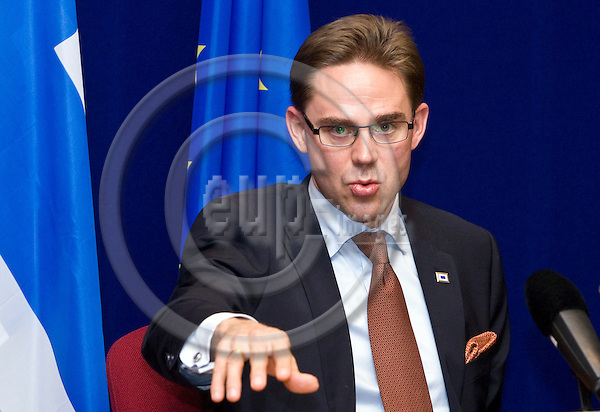 BRUSSELS - BELGIUM - 26 OCTOBER 2011 -- European Council, EU-summit under Polish Presidency. - Press conference by Jyrki KATAINEN, Prime Minister of Finland. -- PHOTO: Juha ROININEN /  EUP-IMAGES