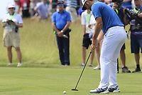 Jon Rahm (ESP) putts on the 6th green during Friday's Round 2 of the 117th U.S. Open Championship 2017 held at Erin Hills, Erin, Wisconsin, USA. 16th June 2017.<br /> Picture: Eoin Clarke | Golffile<br /> <br /> <br /> All photos usage must carry mandatory copyright credit (&copy; Golffile | Eoin Clarke)