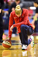 Washington, DC - August 12, 2018: Washington Mystics All-Star guard Elena Delle Donne (11) has a moment alone before the game between the Washington Mystics and the Dallas Wings at the Capital One Arena in Washington, DC. (Photo by Phil Peters/Media Images International)