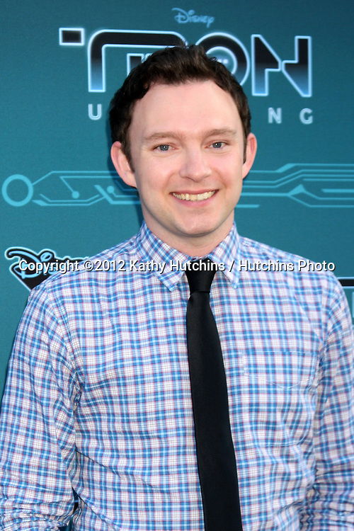 """LOS ANGELES - MAY 12:  Nate Corddry arrives at the Disney XD's """"TRON: Uprising"""" Press Event and Reception at DisneyToon Studios/Disney Television Animation on May 12, 2012 in Glendale, CA"""