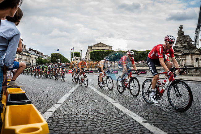 Peloton with Lotto Belisol leading, Tour de France, Stage 21: Évry > Paris Champs-Élysées, UCI WorldTour, 2.UWT, Paris Champs-Élysées, France, 27th July 2014, Photo by Pim Nijland