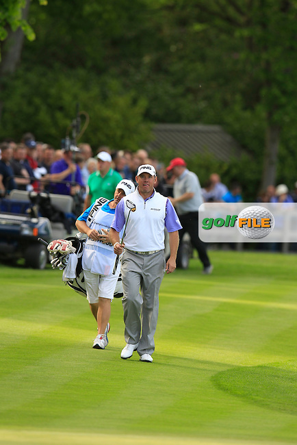 LEE WESTWOOD (ENG) during round 2 of the 2015 BMW PGA Championship over the West Course at Wentworth, Virgina Water, London. 22/05/2015<br /> Picture Fran Caffrey, www.golffile.ie:
