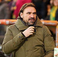 Norwich City manager Daniel Farke  looks on before kick off<br /> <br /> Photographer David Shipman/CameraSport<br /> <br /> The EFL Sky Bet Championship - Norwich City v Bolton Wanderers - Saturday 8th December 2018 - Carrow Road - Norwich<br /> <br /> World Copyright &copy; 2018 CameraSport. All rights reserved. 43 Linden Ave. Countesthorpe. Leicester. England. LE8 5PG - Tel: +44 (0) 116 277 4147 - admin@camerasport.com - www.camerasport.com