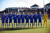 Stebonheath Park,Llanelli, Dyfed,Wales. Wednesday 6th Feb 2013. Wales v Iceland U21 International football friendly. Action during the Wales v Iceland U21 International football friendly match. Mandatory credit Jeff Thomas Photography-07837 386244-www.jaypics.co.uk