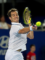 RICHARD GASQUET (FRA) against FERNANDO VERDASCO (ESP) in the group stage of the HOPMAN CUP. France beat Spain 6-2 6-4..05/01/2012, 5th January 2012, 05.01.2012..The HOPMAN CUP, Burswood Dome, Perth, Western Australia, Australia.@AMN IMAGES, Frey, Advantage Media Network, 30, Cleveland Street, London, W1T 4JD .Tel - +44 208 947 0100..email - mfrey@advantagemedianet.com..www.amnimages.photoshelter.com.