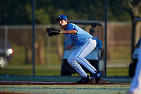 Heston Tole during the WWBA World Championship at the Roger Dean Complex on October 21, 2018 in Jupiter, Florida.  Heston Tole is a first baseman / right handed pitcher from Bowie, Texas who attends IMG Academy and is committed to Arkansas.  (Mike Janes/Four Seam Images)