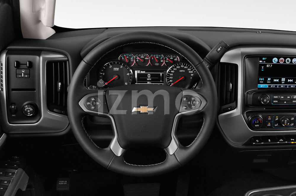 Car pictures of steering wheel view of a 2019 Chevrolet Silverado 2500 LT Crew Cab 4 Door Pick Up