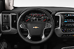 Car pictures of steering wheel view of a 2019 Chevrolet Silverado 2500 LT Crew Cab 4 Door Pick Up