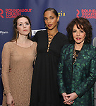 """Talene Monahon, Megalyn Echikunwoke and Stockard Channing attend the Broadway Opening Night Celebration for the Roundabout Theatre Company production of """"Apologia"""" on October 16, 2018 at the Laura Pels Theatre in New York City."""