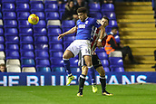 1st November 2017, St. Andrews Stadium, Birmingham, England; EFL Championship football, Birmingham City versus Brentford; Che Adams of Birmingham City lays the ball off