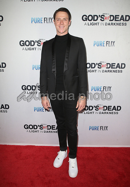 "20 March 2018 - Hollywood, California - Shane Harper. ""God's Not Dead: A Light In Darkness"" Premiere held at American Cinematheque Egyptian Theatre. Photo Credit: F. Sadou/AdMedia"